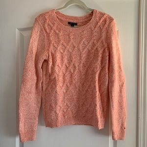 Tommy Hilfiger orange and white sweater